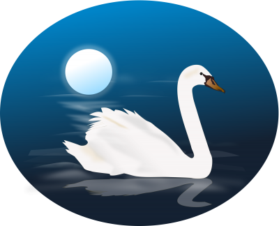 Clipart Blue Swan Photo