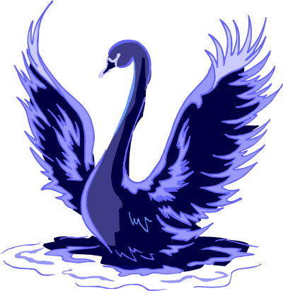 Stylized Blue Swan Clipart Png