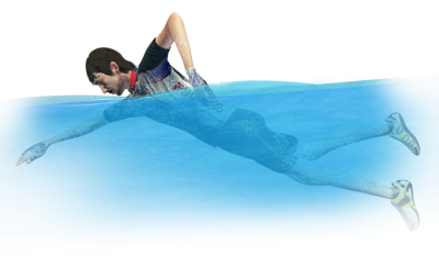 3d Swimming Man Png PNG Images