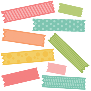Colorful Pattern Tape Graphic illustration Clipart Png PNG Images
