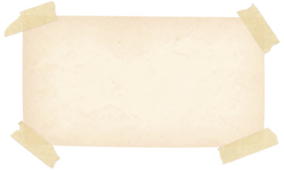 Note Paper Affixed With Tape Free Transparent PNG Images