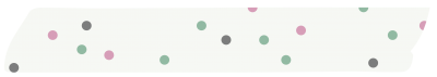 Polka Dot White Tape Transparent Background PNG Images