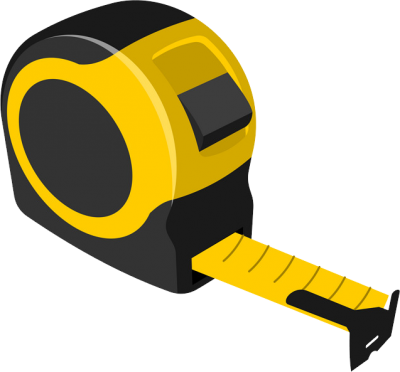 Yellow Measure Tape Transparent Background PNG Images