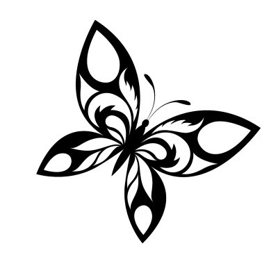 Butterfly Designs Black And White Png