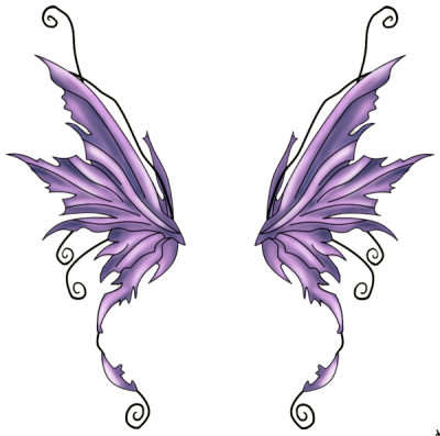 Fairy Purple Tattoos Png Transparent Image