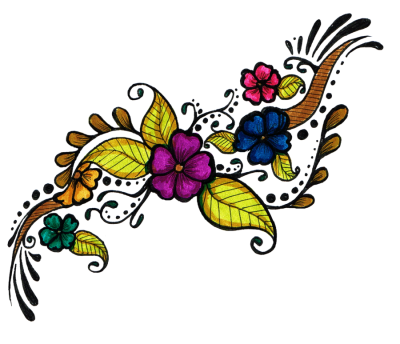 Flower Tattoo Design Clipart