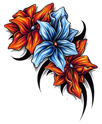 Old School Flower Sleeve Tattoos For Women Dave Grohl Rosa Pictures PNG Images