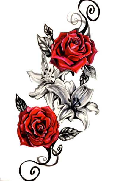 Rose Tattoo Png Transparent Image