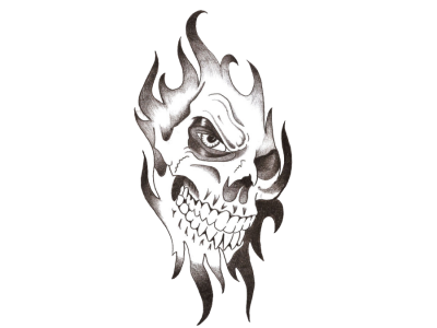 Skull Tattoo Png Transparent Image