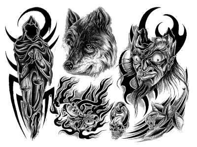 Wolf Tattoo Design Transparent