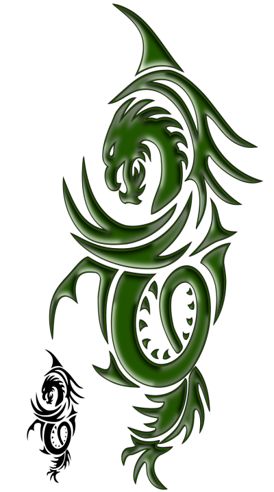 Green Dragon Tattoo Transparent Photo Download PNG Images