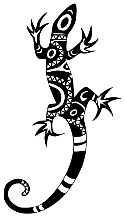 Black Lizard Tattoo Hd Download PNG Images