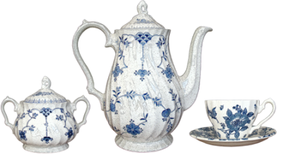 Blue And White Tea Set Transparent Background