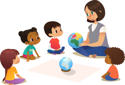Teacher Telling Students World Clipart Free Download, Drawing, Sitting, Shoulder, Child, Primary School PNG Images