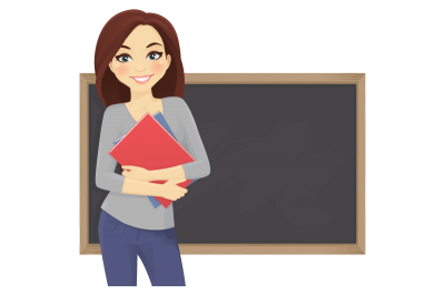 School Board And Female Teacher Background images Clipart, Textbooks, Reading, Writing PNG Images