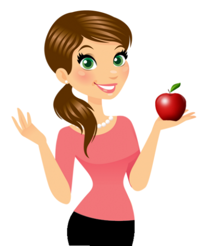 Teacher Hd Clipart With Apple in Hand, Digital, Animation Drawing, Tutorial, Learning, Narration PNG Images
