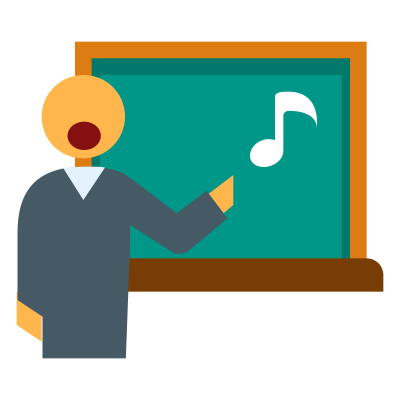 Singing Teacher Transparent Clipart Photo Hd, Music Lesson, Blackboard, Animation, Boy PNG Images