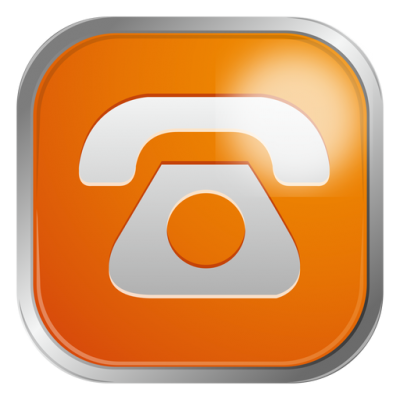 Orange Telephone Icon Transparent Png