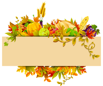 Thanksgiving Clipart Borders Png