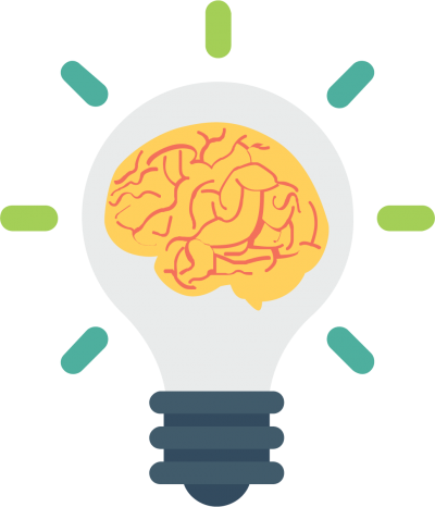 Thought, idea, Brain in Light Bulb Thinking Background Transparent Png PNG Images