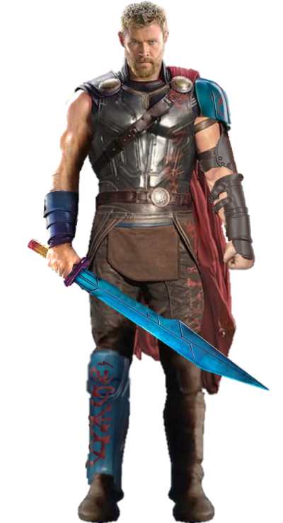 Blue Hair Thor Transparent Image