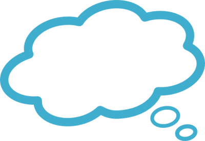 Blue Thought Bubble Clipart Image