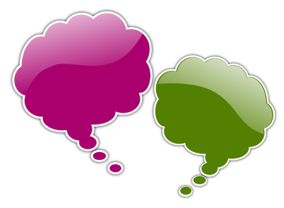 Pink, Purple, Thought Bubble Png Image