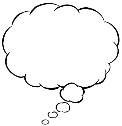 Thinking Bubble Png PNG Images