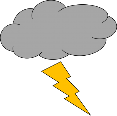 Clipart Thunder And Lightning Picture