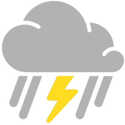 Simple Weather Icons Thunderstorm Png