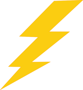 Thunder Bolt Plain Clip Art At Pictures PNG Images