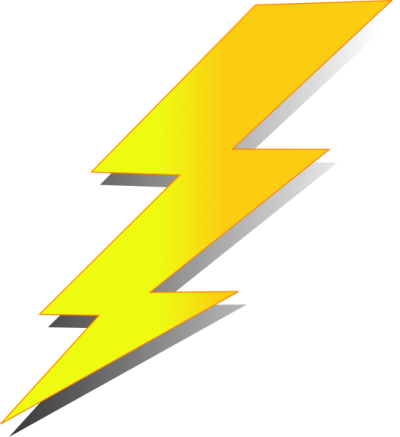 Thunder Cartoon Yellow Png PNG Images