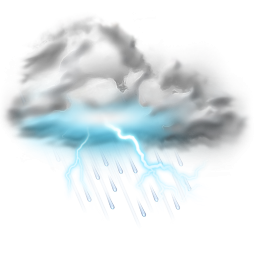 Thunder Lightning Storm Icon Weather Png