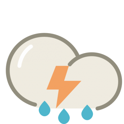 Thunderstorms icon images PNG Images