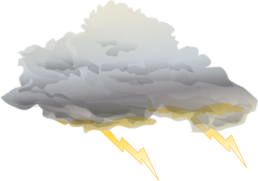 Watching The Clouds Thunderstorm Png PNG Images