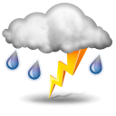Weather icons Thunderstorm Png PNG Images