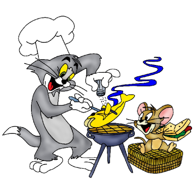 Cartoon Grid Tom And Jerry Clipart PNG Images