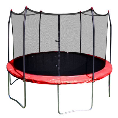 Round Trampoline Red Pictures PNG Images