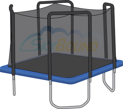 Square Skywalker Trampoline Pad Pictures PNG Images
