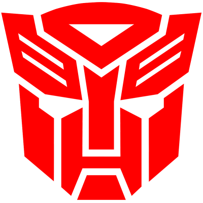 Red Transformers Logo Clipart HD