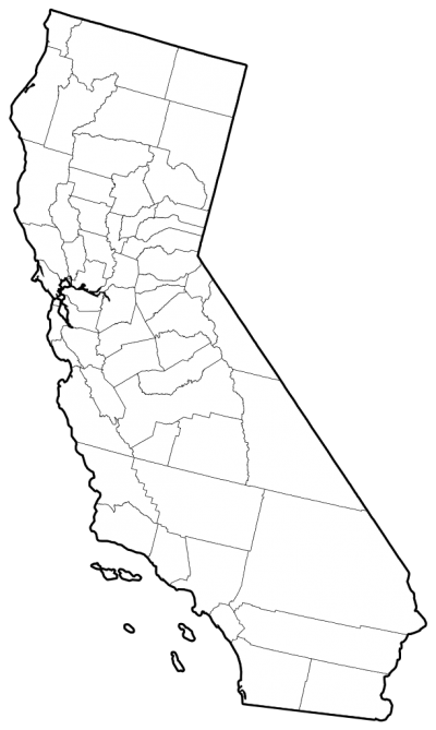 California Counties Outline Map Png PNG Images
