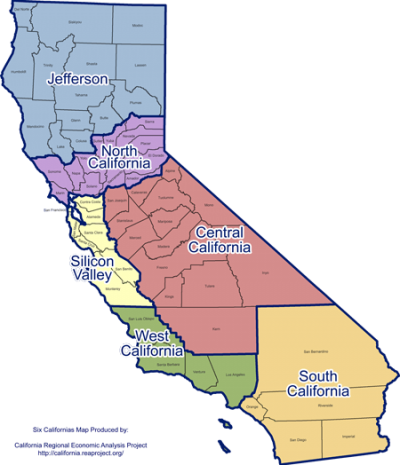 California Regional Map Png