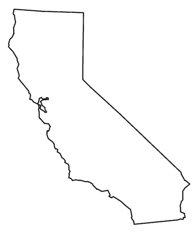 California State Outline Png PNG Images