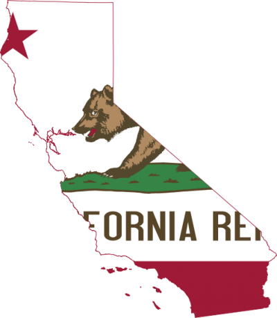 Flag Map Of California Png