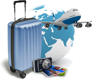 Travel, Suitcase, Airplane, Photo, Tour Clipart Photo