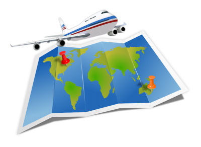Travel Map, Airplane Png PNG Images