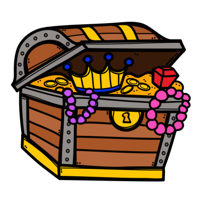 Cartoon, Chest, Coins, Gold, Jewel, Treasure Png PNG Images