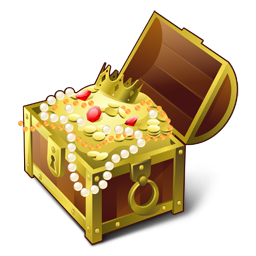 Chest, Gold, Treasure Icon Png PNG Images