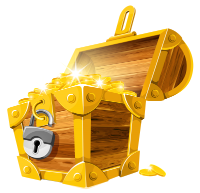 Gold Treasure Chest Clipart PNG Images