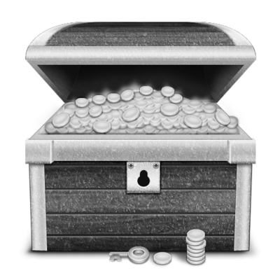 Grey Login Treasure Icon Png